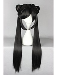 cheap -Cosplay Wigs Women's 32 inch Heat Resistant Fiber Black Anime