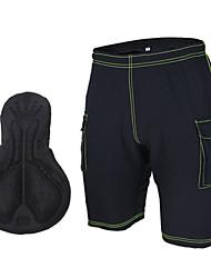 cheap -Arsuxeo Men's Unisex Cycling Padded Shorts Bike Shorts MTB Shorts Pants Breathable 3D Pad Reflective Strips Sports Black / Gray Clothing Apparel Bike Wear / High Elasticity