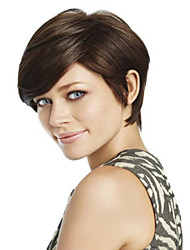 cheap -top quality and cheapest price dark brown short syntheic wig