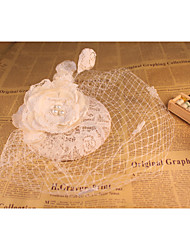 cheap -Flax / Lace / Net Fascinators with 1 Wedding / Special Occasion Headpiece