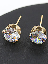 cheap -Women's Crystal Stud Earrings Crystal Earrings Jewelry Golden / Silver For Wedding Party Daily Casual