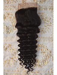 Недорогие -PANSY 100% ручная работа / Полностью ленточные Крупные кудри Бесплатный Часть / Средняя часть / 3 Часть Корейское кружево Натуральные волосы