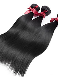 cheap -3 Bundles Peruvian Hair Straight Natural Color Hair Weaves / Hair Bulk Human Hair Weaves Human Hair Extensions / 8A