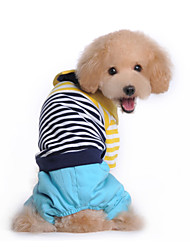 cheap -Dog Costume / Coat / Clothes/Jumpsuit / Outfits Multicolored Winter StripeCosplay / Valentine / Holiday / New Year's / Camouflage / Keep