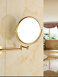 cheap -Bathroom Cosmetic Mirror Neoclassical Brass Wall Mounted Golden Shower Accessory 1 pc