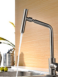 cheap -Kitchen faucet - Single Handle One Hole Stainless Steel Bar / Prep Deck Mounted Contemporary Kitchen Taps