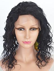 cheap -Human Hair Lace Front Wig style Brazilian Hair Curly Wig Women's Short Medium Length Long Human Hair Lace Wig