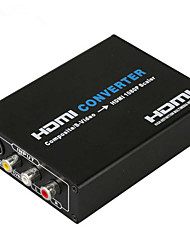 cheap -1080P AV to HDMI Composite 3RCA AV S Video R L Audio Vdieo to HDMI Converter Adapter