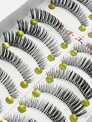 cheap -Eyelash Extensions False Eyelashes 20 pcs Extended Lifted lashes Volumized Fiber Full Strip Lashes Crisscross Natural Long - Makeup Daily Makeup Party Makeup Cosmetic Grooming Supplies