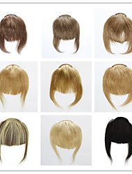 cheap -Trustfire Clip In Human Hair Extensions Straight Classic Human Hair Bangs Nano Beige Blonde /  / Bleached Blonde