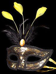 cheap -Mask Masquerade Carnival Mask Inspired by Carnival Golden+Black White Halloween Carnival Masquerade Adults' Men's Women's