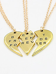 cheap -Women's Pendant Necklace Heart life Tree Best Friends Friendship Ladies Sister Alloy Gold Silver Necklace Jewelry For Wedding Party Thank You Daily Casual Valentine