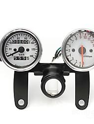 cheap -Iztoss Motorcycle Odometer Tachometer Speedometer Gauge with Black Bracket