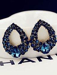 cheap -Women's Blue Crystal Stud Earrings Classic Style Classic Theme Elegant & Luxurious Earrings Jewelry Blue For Wedding Party Daily Casual