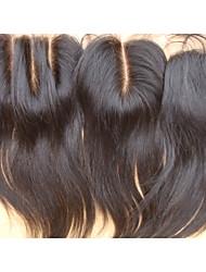 Недорогие -PANSY 100% ручная работа / Полностью ленточные Прямой Бесплатный Часть / Средняя часть / 3 Часть Швейцарское кружево Натуральные волосы