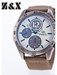 cheap -Men's Sport Watch Quartz Nylon Black / Blue / Red Hot Sale Analog Charm Classic - Gray Red Blue