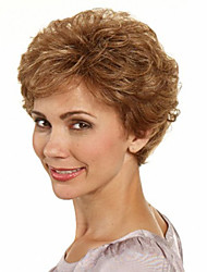 cheap -Synthetic Wig Wavy Wavy With Bangs Wig Short Brown Synthetic Hair Women's Brown