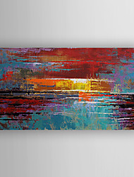 cheap -Oil Painting Hand Painted - Abstract Modern Stretched Canvas