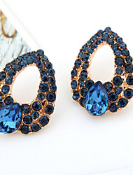 cheap -Women's Sapphire Crystal Drop Earrings Pear Cut Drop Ladies Luxury Cubic Zirconia Imitation Diamond Earrings Jewelry Blue For Wedding Masquerade Engagement Party Prom Promise