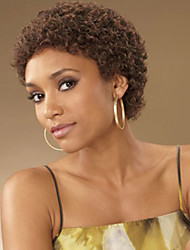 cheap -Synthetic Wig Kinky Curly Kinky Curly Wig Short Brown Synthetic Hair Women's African American Wig Glueless Brown