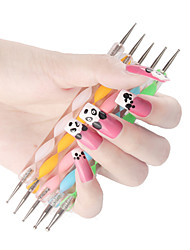 cheap -Dotting Tools For Finger Nail Toe Nail Acrylic Brush Lightweight strength and durability nail art Manicure Pedicure Unique Design