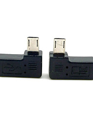 cheap -CY® Left and Right Turning Male Micro USB to Female Micro USB Adapter for Cellphone