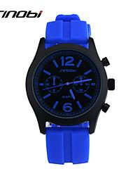 Недорогие -SINOBI Муж. Спортивные часы Наручные часы Кварцевый силиконовый Синий 30 m Защита от влаги Спортивные часы Аналоговый Кулоны Классика - Красный Синий