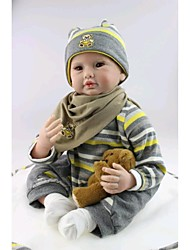 """cheap -NPK DOLL 22 inch Reborn Doll Baby Reborn Baby Doll Newborn lifelike Cute Hand Made Child Safe 22"""" with Clothes and Accessories for Girls' Birthday and Festival Gifts / Non Toxic / Lovely / Kid's"""