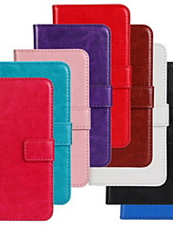 cheap -Case For Nokia Lumia 625 / Nokia Lumia 630 / Nokia Wallet / Card Holder / with Stand Full Body Cases Solid Colored Hard PU Leather