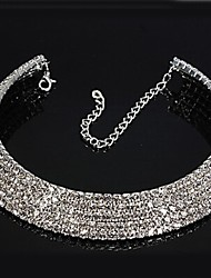 cheap -Women's Synthetic Diamond Choker Necklace Tennis Chain Ladies Bridal everyday Iced Out Rhinestone Alloy Necklace Jewelry For Wedding Party