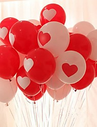 cheap -Red White Balloons Love Heart Wedding Birthday Valentine Day Decoration 10pcs