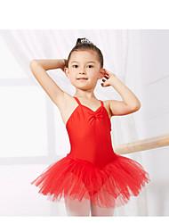 Недорогие -Детская одежда для танцев Балет Учебный Без рукавов Спандекс