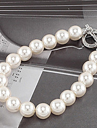 cheap -Women's Bead Bracelet Ladies Unique Design Fashion Pearl Bracelet Jewelry White For Party Daily Casual / Imitation Pearl