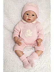 cheap -NPKCOLLECTION NPK DOLL Reborn Doll Baby 22 inch Silicone Vinyl - Newborn lifelike Cute Hand Made Child Safe Non Toxic Kid's Girls' Toy Gift / Lovely / CE Certified / Natural Skin Tone / Floppy Head