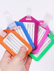 cheap -Luggage Tag Waterproof Luggage Accessory Anti Lost Reminder PP (Polypropylene) 1 pc Black White Light Green Solid Colored Travel Accessory