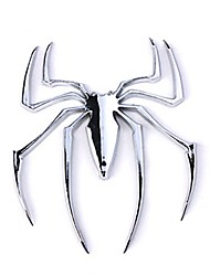 cheap -ZIQIAO Car Chrome Emblem Badge Sticker - Spider