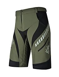 cheap -Nuckily Men's Cycling Shorts Bike Baggy Shorts Underwear Shorts Padded Shorts / Chamois Waterproof Windproof Breathable Sports Polyester Spandex Black / Light Green Mountain Bike MTB Road Bike Cycling