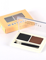 cheap -2 Colors Eyebrow Pencil Powders 1 pcs Dry / Combination / Oily Waterproof / Long Lasting / Natural Eye Makeup Cosmetic
