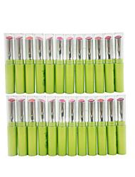 abordables -24 pcs 12 couleurs Maquillage Quotidien Accessoires de Maquillage Rouges à Lèvres Humide Humidité Maquillage Cosmétique Quotidien Accessoires de Toilettage