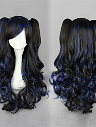 cheap -Lolita Wigs Sweet Lolita Dress Black Lolita Lolita Wig 28 inch Cosplay Wigs Solid Colored Wig Halloween Wigs