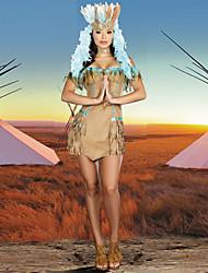 cheap -Polyester India Princess Dionysia Costumes For Halloween Adlut Indian Dance Dress (Dress+Headwear+Neck Wear)