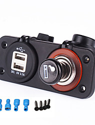 cheap -Iztoss 12-24v Dual USB Power Port Charger Cigarette Lighter Plug Socket for Motorcycle car RV boat