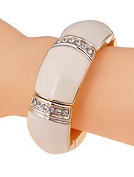 abordables -Bracelet à Perles Femme Cristal Cristal Imitation Diamant Luxe unique Mode Bracelet Bijoux Blanc Noir pour Soirée Quotidien Décontracté