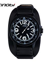cheap -SINOBI Men's Sport Watch Wrist Watch Quartz Leather Black 30 m Water Resistant / Waterproof Sport Watch Analog Classic - Black