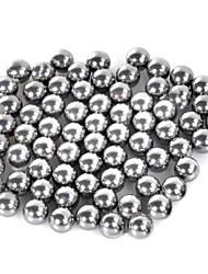 Недорогие -7мм углеродистой стали рогатки мяч серебра 70 шт