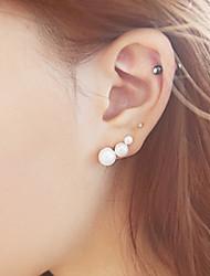 cheap -Women's Stud Earrings Helix Earrings Imitation Pearl Earrings Jewelry White For Wedding Party Daily Casual