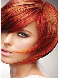 cheap -Synthetic Wig Straight Straight Wig Short Red Synthetic Hair Red