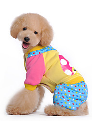 cheap -Dog Coat / Clothes/Jumpsuit Multicolored Winter Polka DotsHoliday / New Year's / Camouflage / Keep Warm / Fashion / Halloween / Birthday