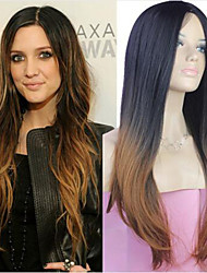 cheap -extensions best quality blend color silky straight wave long syntheic straight wig
