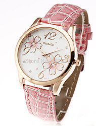 cheap -Women's Ladies Wrist Watch Quartz Leather Black / White / Red Casual Watch Analog Flower Casual Fashion - Brown Red Pink